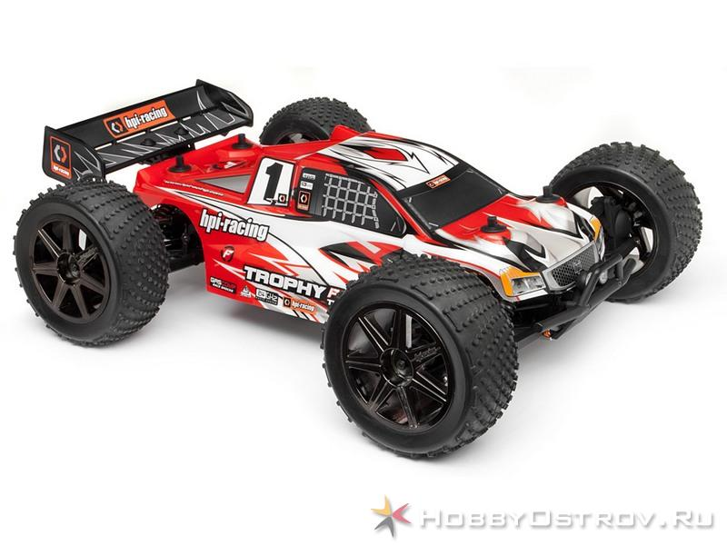 Р/У Трагги HPI Trophy Truggy Flux 4WD 2,4GHz 1/8 RTR (NEW)