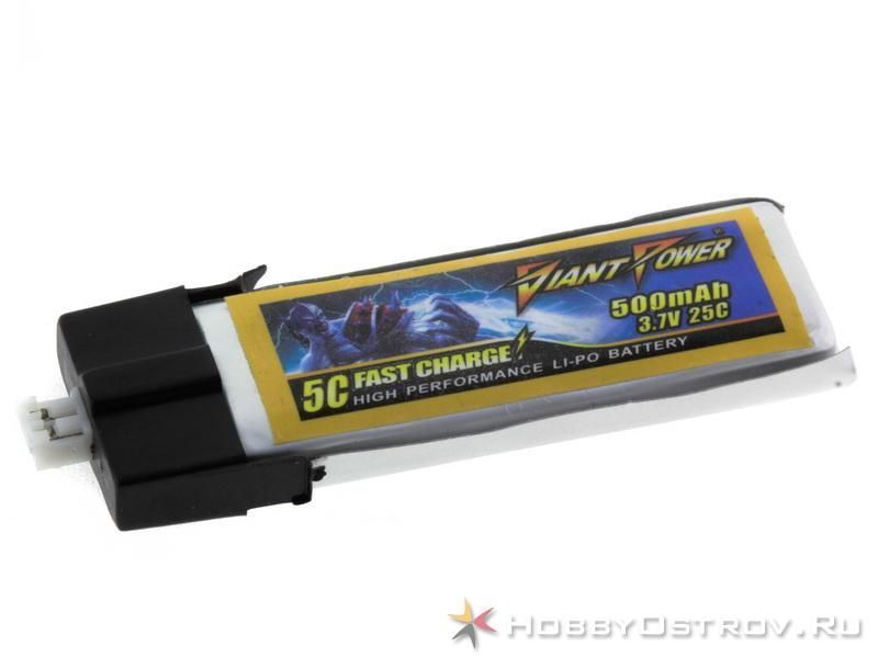 Аккумулятор Giant Power LiPo 500mAh 3.7V 25C e-flite MCPX