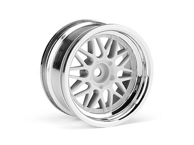 Диски 1/10 - HRE C90 26мм CHROME/WHITE (6мм/2шт)